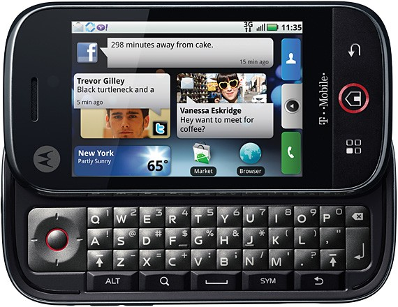 50003176588-T-Mobile Motorola Cliq MB200 Android Cell Phone Black-image