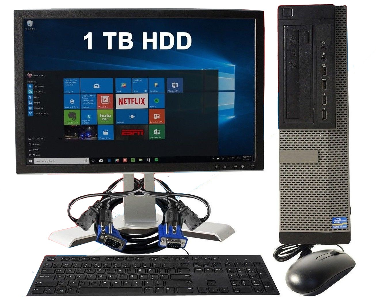 DELL-OPT-9010-DT-BUNDLE-Refurbished Dell Optiplex 9010 DT Bundle i7 8GB RAM 1TB HDD With Keyboard, Mouse, Monitor-image