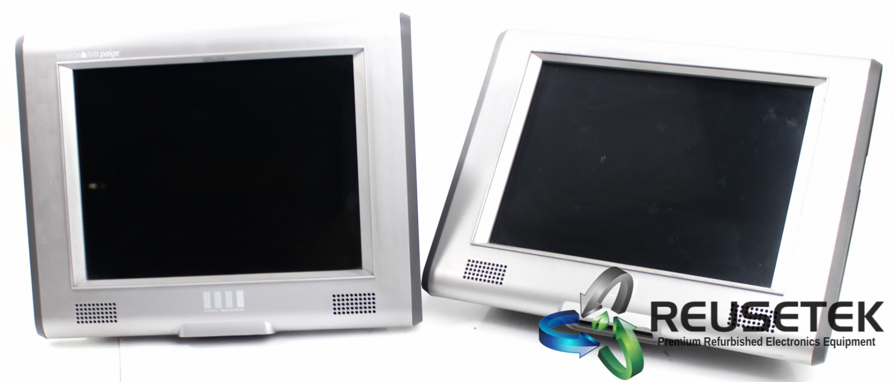 50003176520-Lot of 2 Micro Industries Touch&Go Paige Model 9500143 Interactive Retail Kiosk-image