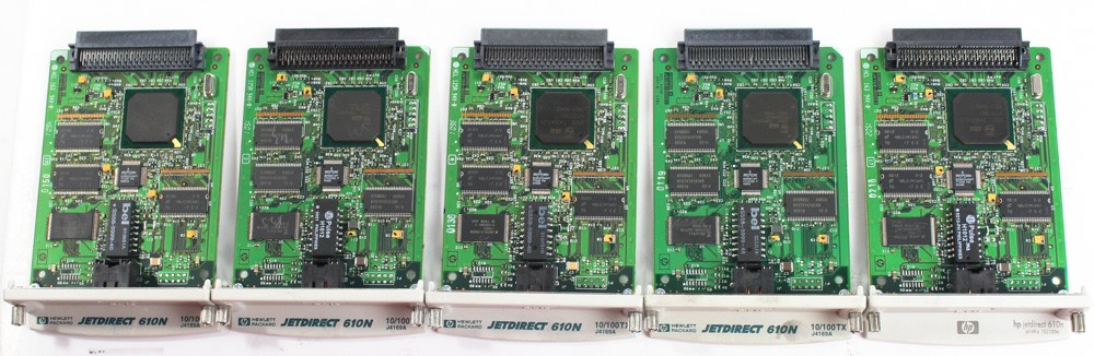 50000368-Lot of 5 HP JetDirect 610N Printer Server Cards-image