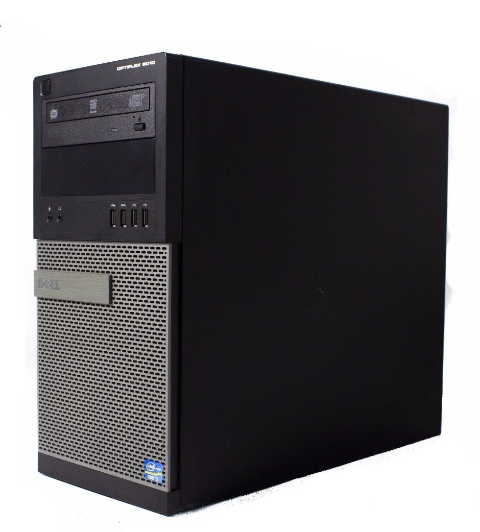 DELL-OPT-9010-i7-Refurbished Dell OptiPlex 9010 MT Mini Tower Computer 1 TB HDD 8 GB RAM Core i7-3770 #-image