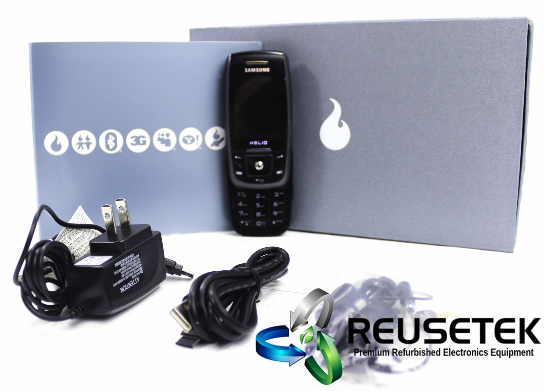 5000317696079954-Samsung SPH-A503 Helio Drift Set GH69-04548 Virgin Mobile Cell Phone-image