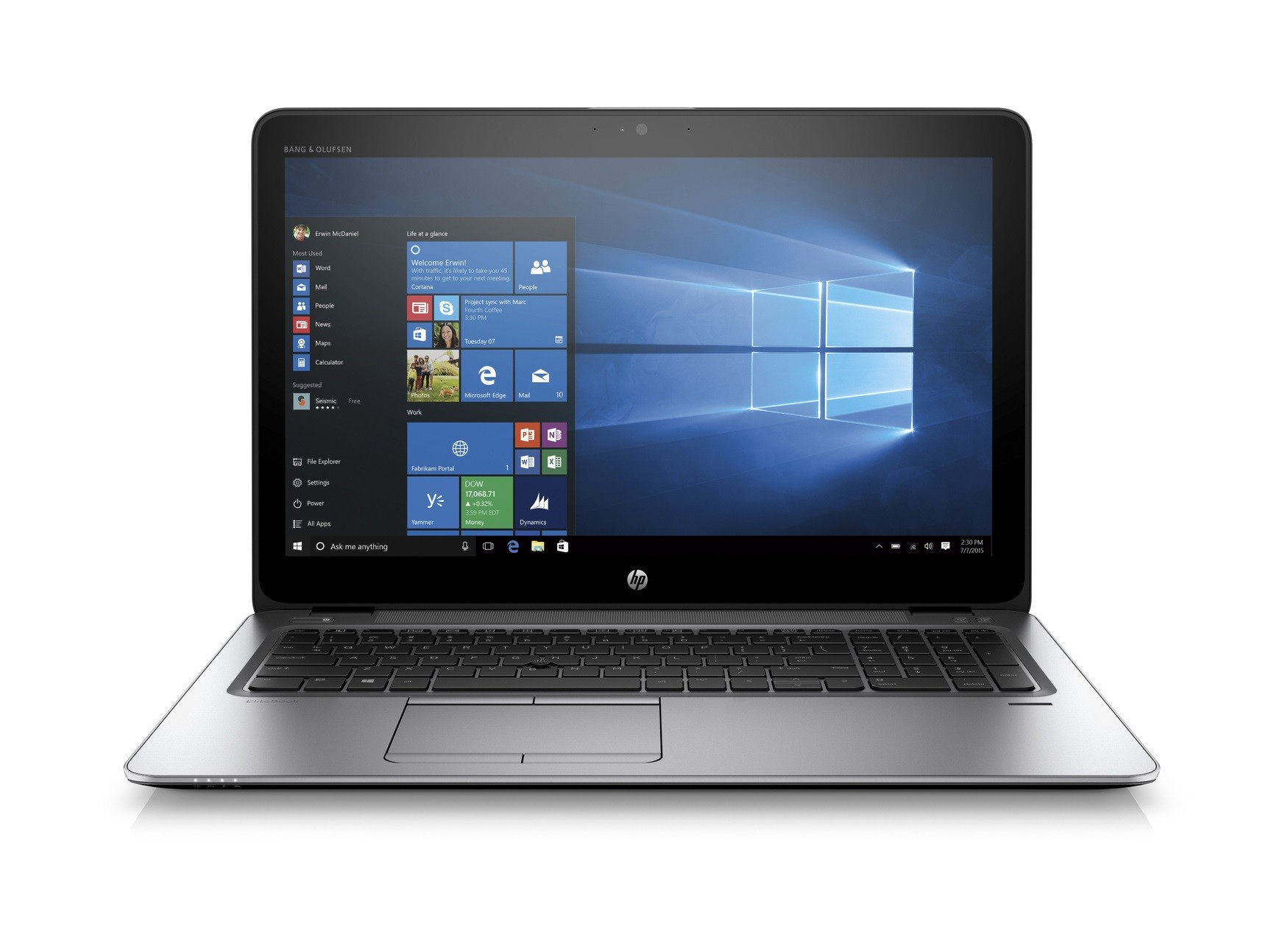 HP-EB-850-G3-LAP-I5-256GB-HP EliteBook 850 G3 Refurbished Laptop 15-inch 256 GB SSD 8 GB RAM Core i5 Windows 10 Professional-image