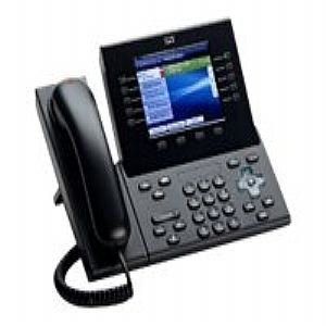 CP-8961-C-Cisco CP-8961-C Refurbished Corded VoIP Phone 5-Line Phone LCD Display-image