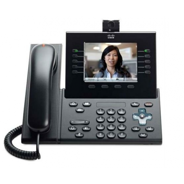 CP-9951-W-Cisco CP-9951-W Refurbished Corded VoIP Phone 5 Line Phone LCD Display-image