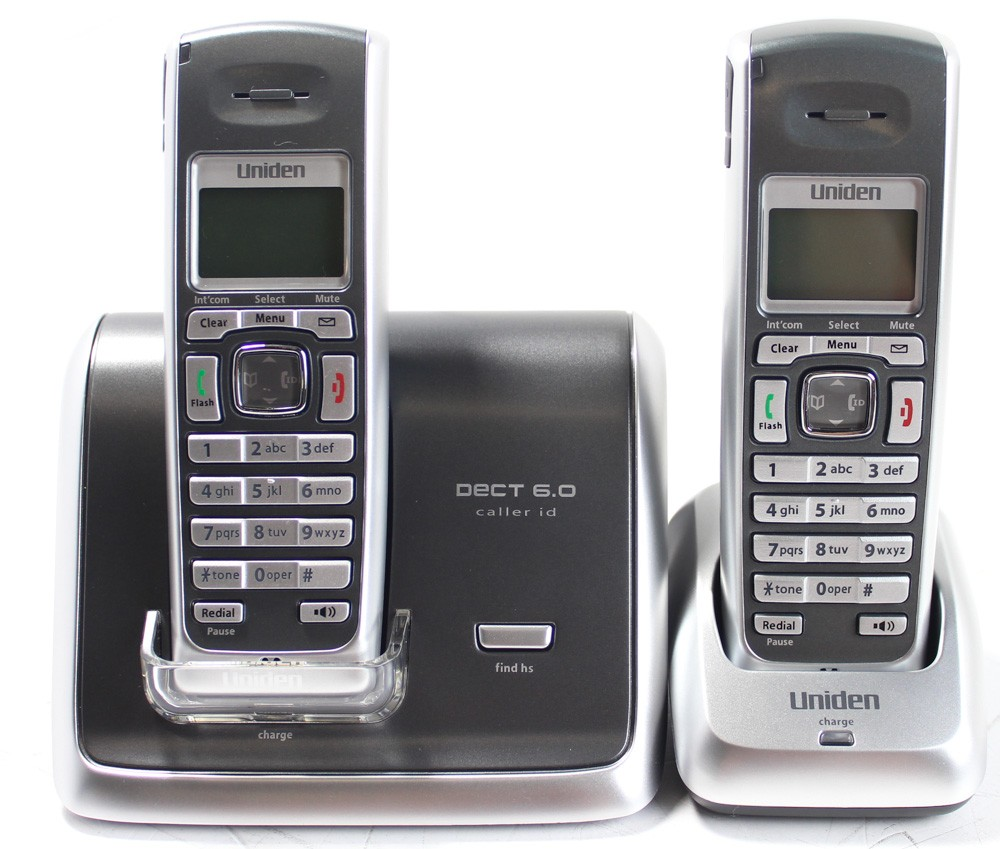 50001163-Uniden DECT 6.0 Cordless Phone with Caller ID + Extra Handset DECT2060-2-image