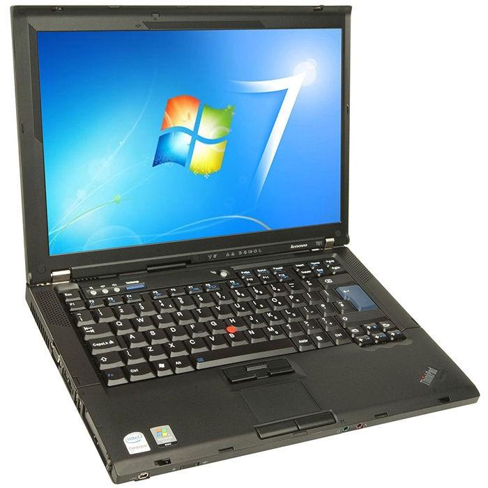 T61ThinkPad-ThinkPad Lenovo T61p Core 2 Duo Refurbished Laptop 4GB RAM Windows 10 160GB HDD -image