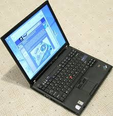 T60ThinkPad-Used Laptop T60 ThinkPad Lenovo Windows 10 4GB RAM Core 2 Duo 160GB HDD -image