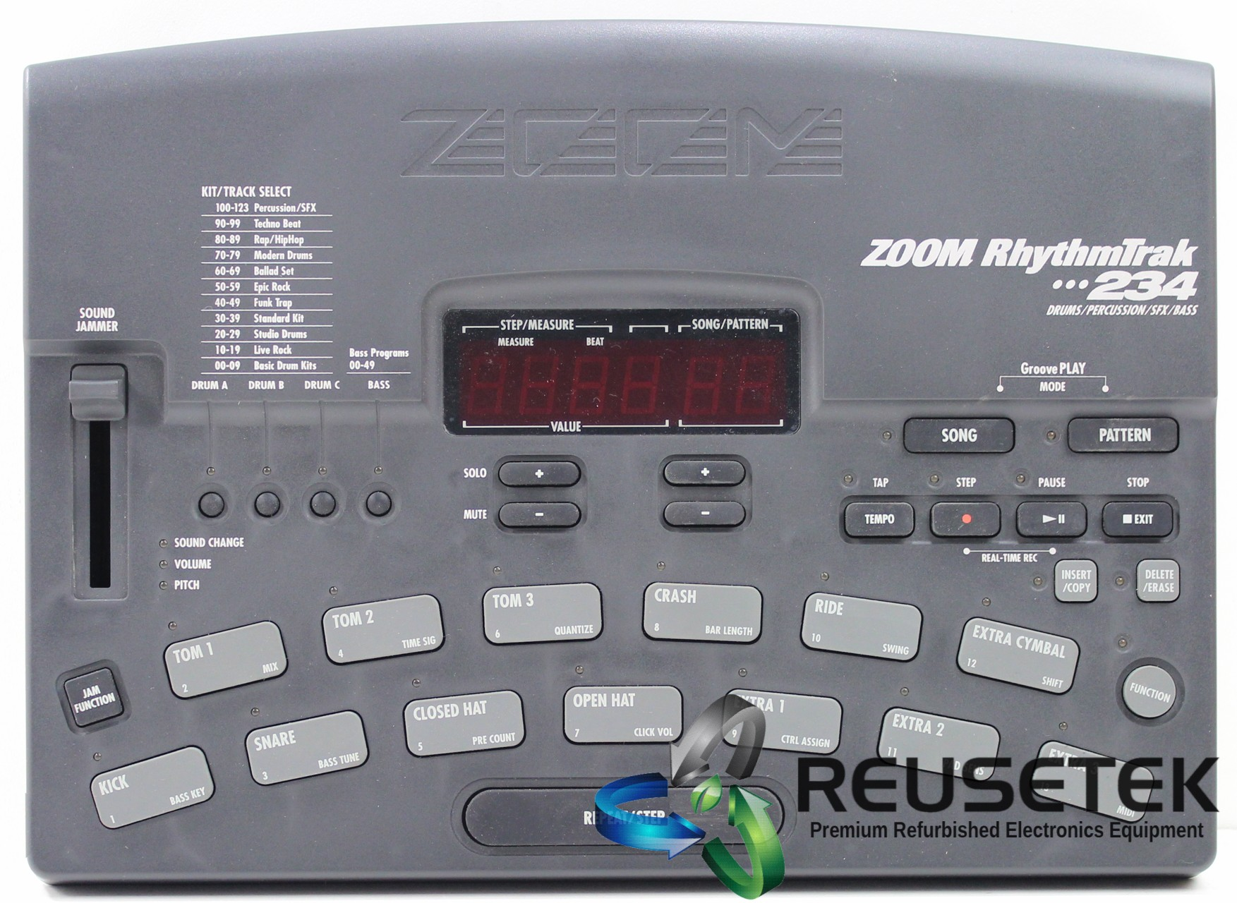 500031100-ZOOM RhythmTrak 234 RT-234 Drum Machine-image