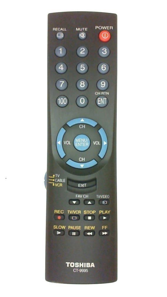0 0-101-Used Authentic toshiba ct-9995 Refurbished Remote Control OEM -image