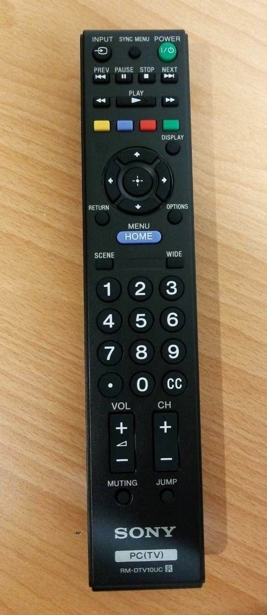 00-61-Used Authentic Sony RMT-DTV10UC Refurbished Remote Control OEM -image