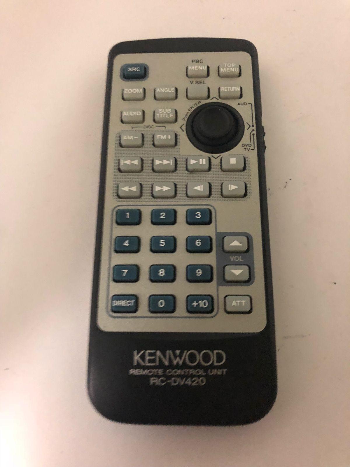 00-74-Used Authentic Toshiba VC-602 Refurbished Remote Control OEM KENWOOD RC-DV420-image