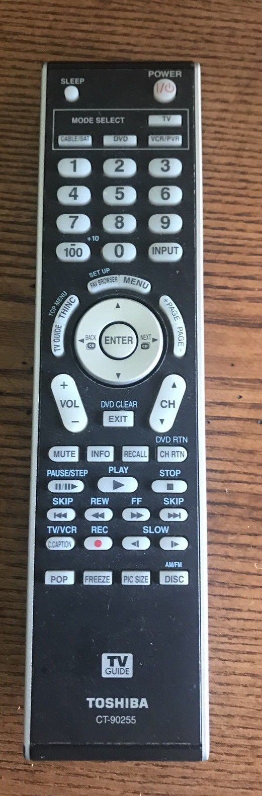 0 0-47-Original Used Authentic Refurbished OEM  Remote Control Genuine Tested Working toshiba CT-90255-image