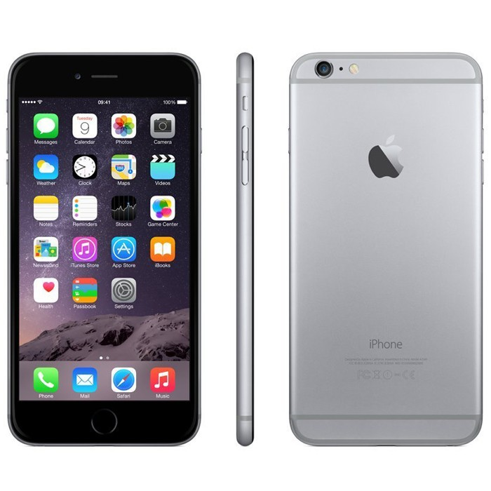 A1549.SpaceGrey.16-Apple iPhone 6 GSM Unlocked Space Grey A1549 Used Refurbished Smart Cell Phone-image