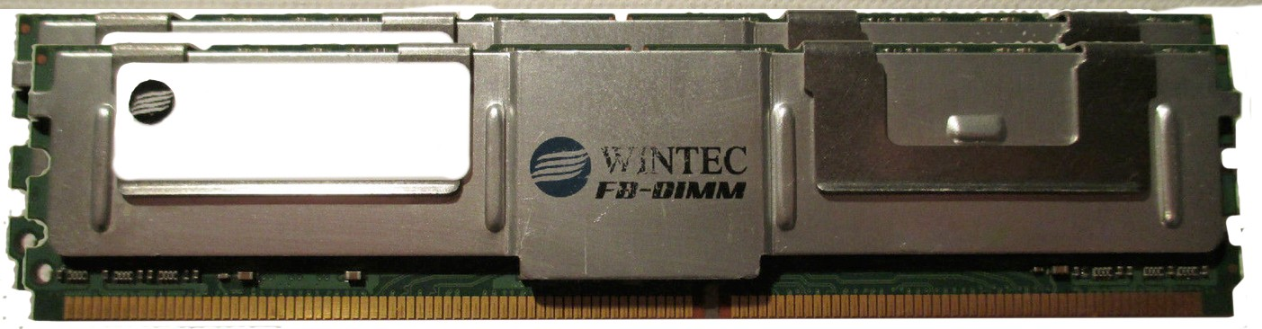 5000317696079132-T11-Wintec 39935284C-X 2GB (2X1GB) Kit PC2-5300 DDR2-667MHz ECC Fully Buffered Server Memory Ram-image