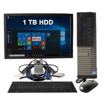 Refurbished Dell Optiplex 9010 DT Bundle i7 8GB RAM 1TB HDD With Keyboard, Mouse, Monitor