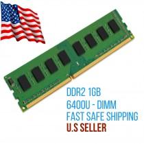 1GB PC2-6400U 2RX8 667MHz DIMM RAM Desktop Memory Non-ECC Branded