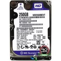 """Western Digital WD2500BEVT-80A23T0 DCM: HEMTJHK 250GB 2.5"""" Laptop Sata Hard Drive"""