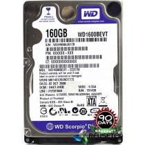 "Western Digital WD1600BEVT-22ZCT0 DCM: DHCTJHBB 160GB 2.5"" Laptop Sata Hard Drive"