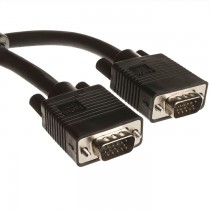 VGA Computer Cable for VGA-Based LCD Monitors (Male to Male Black)