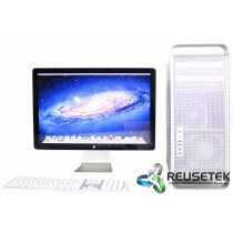 "Apple A1289 Mac Pro Intel Dual Quad Core 8 Core Desktop with Apple MB382LL/A A1267 24"" LED Cinema Display"