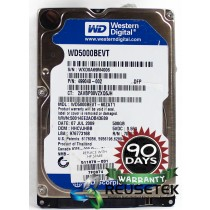 "Western Digital WD5000BEVT-60ZAT1 DCM: HHCVJHBB 500GB 2.5"" Laptop Sata Hard Drive"