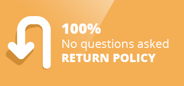 100% no questions asked Return Policy