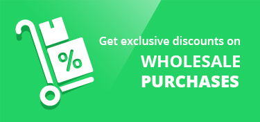 Get Exclusive discounts on wholesale purchases